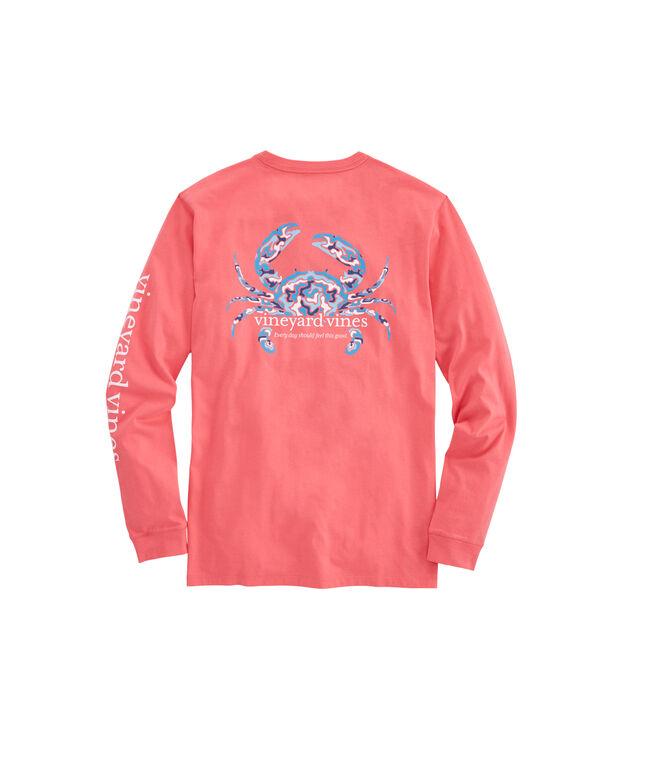 Long-Sleeve Camo Crab T-Shirt