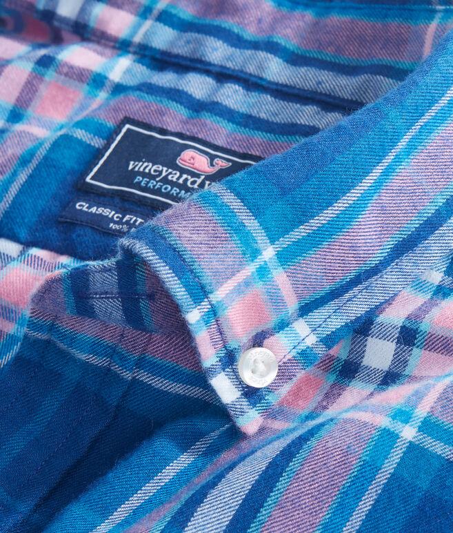 Point Lobos Plaid Performance Flannel Classic Murray Shirt