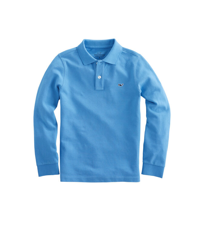 Boys Long-Sleeve Classic Pique Polo