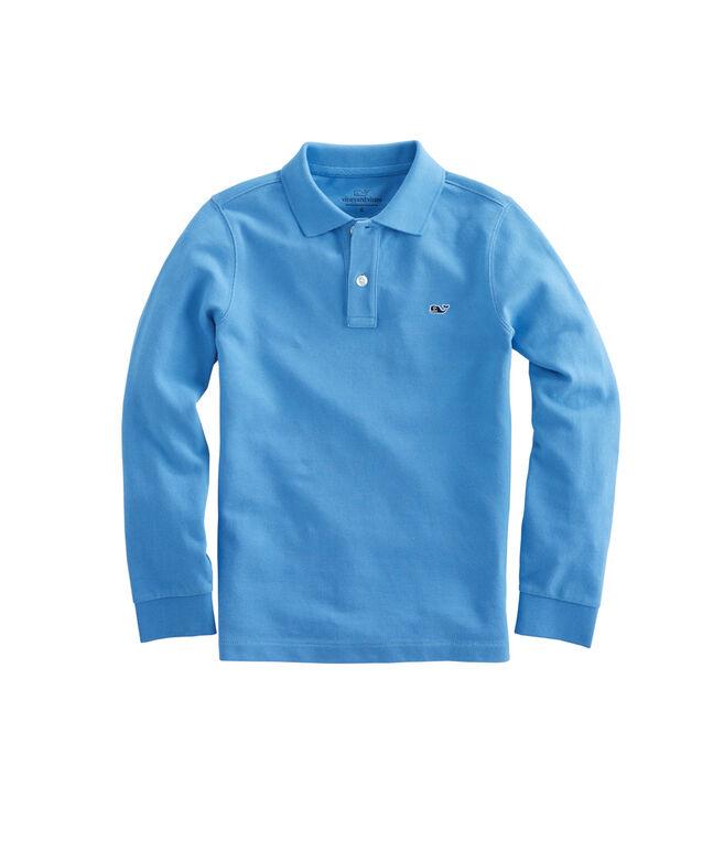 Boys Long-Sleeve Classic Pique Polo