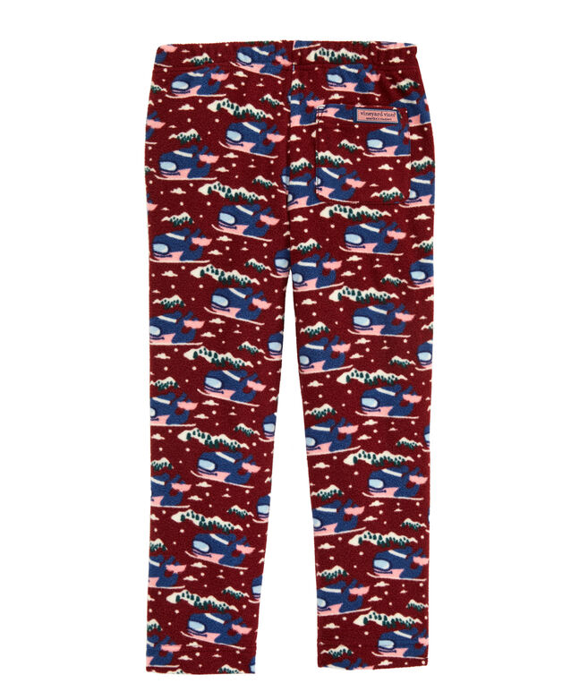 Boys Whale Fleece Pajama Pants