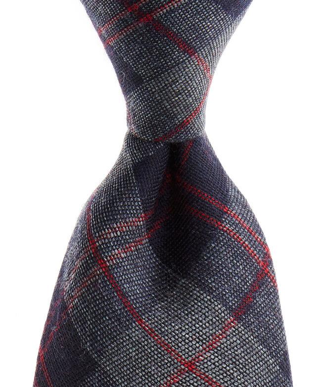 Gray Wool Woven Tie