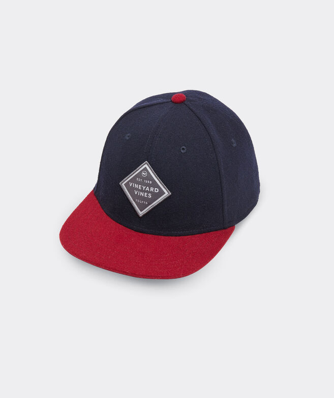 Colorblock Wool Logo Patch Baseball Hat