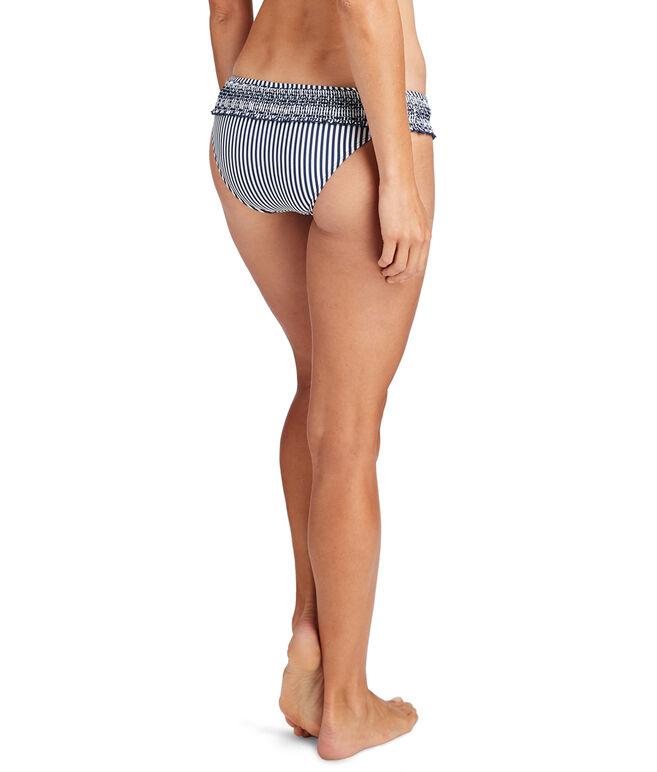 Sankaty Stripe Smocked Bikini Bottom