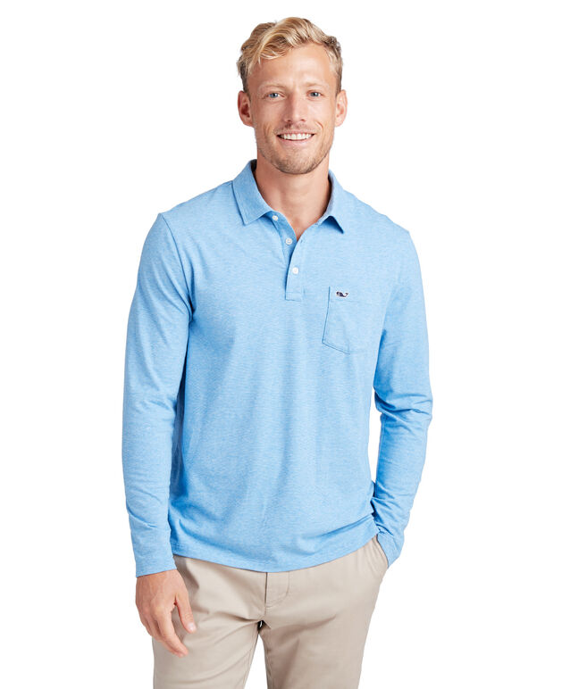Long-Sleeve Solid Edgartown Polo