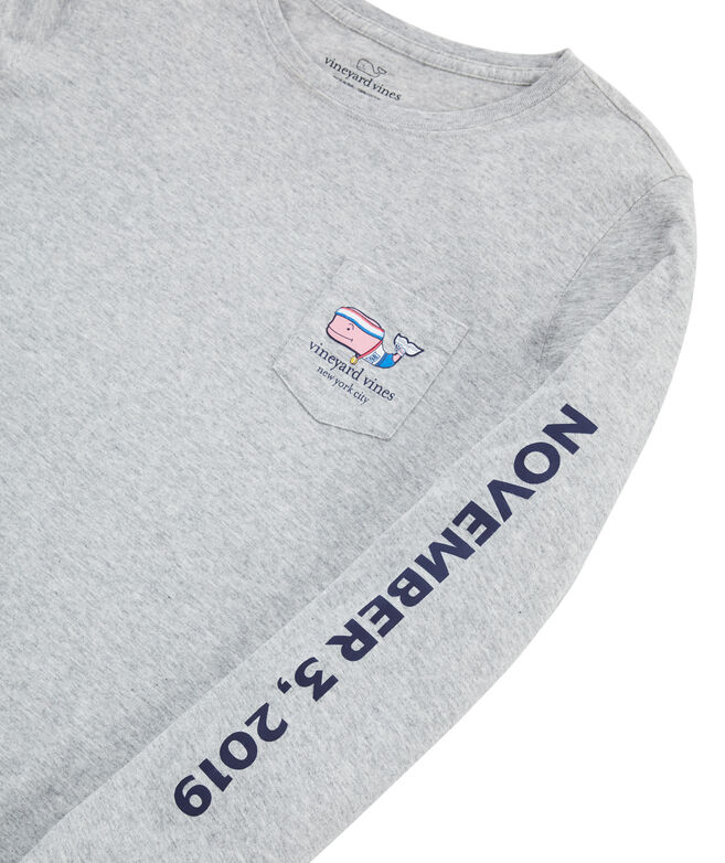NYC Marathon Runner Whale Long-Sleeve Pocket Tee