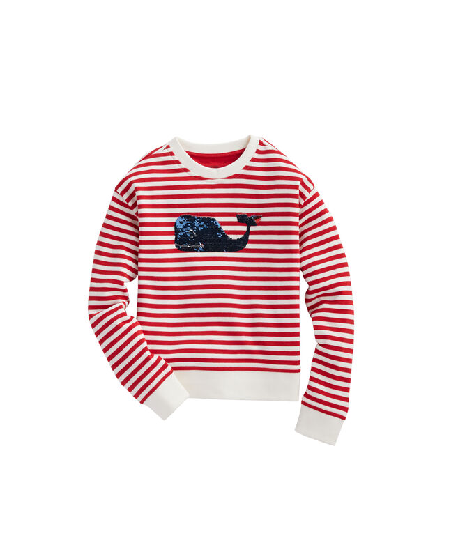Flip Sequins Stripe Sweatshirt