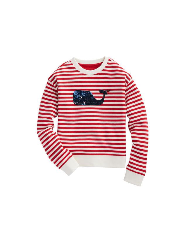 Flip Sequins Stripe Sweatshirt