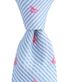 Seersucker Sailboats Kennedy Skinny Tie