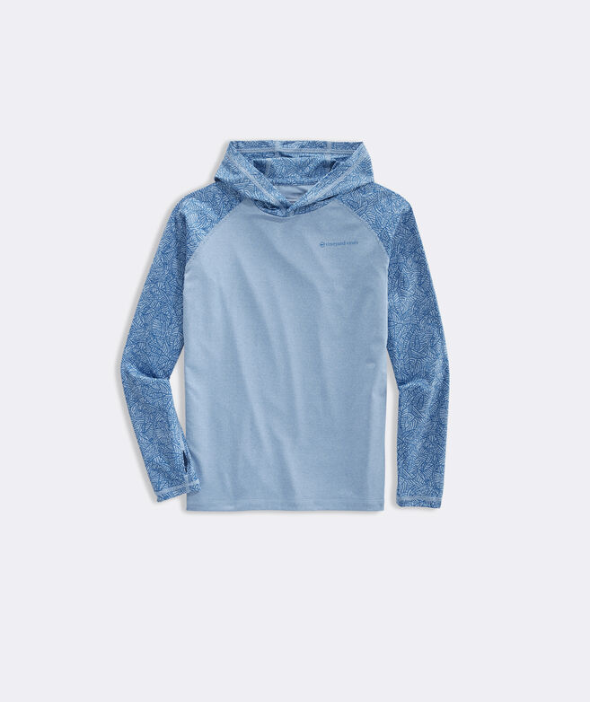 Boys' Above The Vineyard Print Long-Sleeve Performance Hoodie Tee