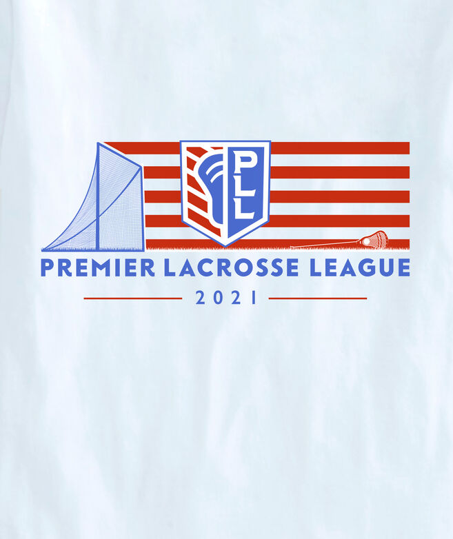 Limited-Edition Premier Lacrosse League Flag Logo Short-Sleeve Pocket Tee