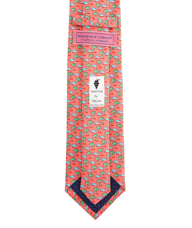 Tropical Whale Tie