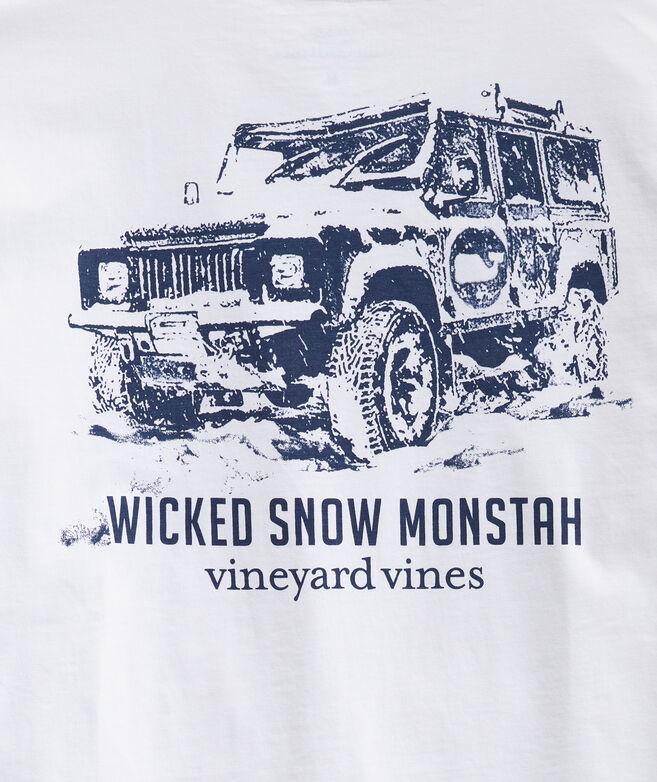 Wicked Snow Monstah Long-Sleeve Pocket Tee