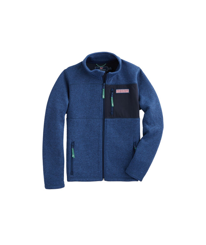 Boys' Sweater Fleece Full-Zip Jacket