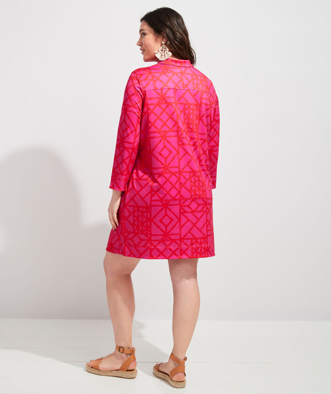 Sankaty Bamboo Lattice Margo Shirt Dress