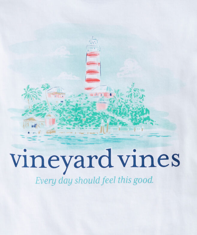 Boys' Painted Lighthouse Short-Sleeve Pocket Tee
