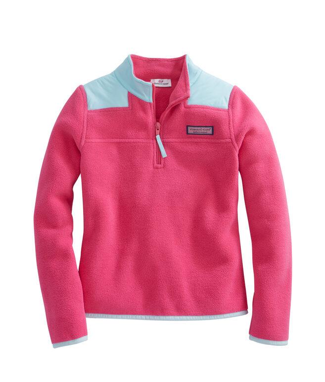Girls Fleece Ripstop Neck Shep Shirt