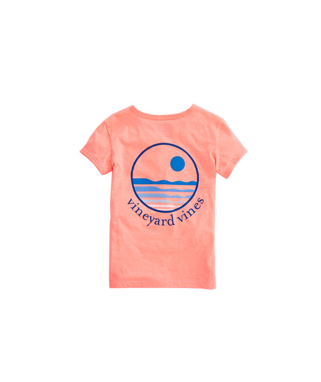 Girls Sunset Heather Ringer Tee