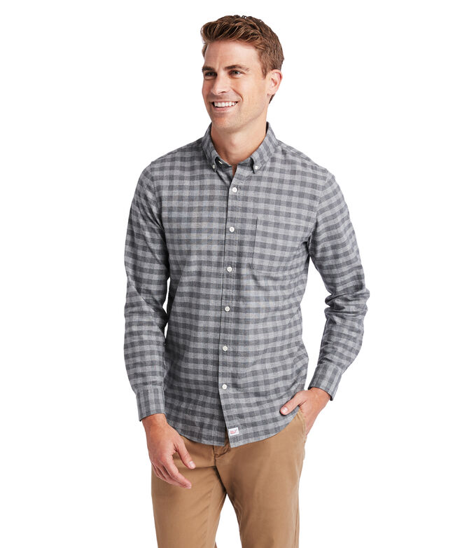 Slim Fit Gray Oxford Murray Shirt