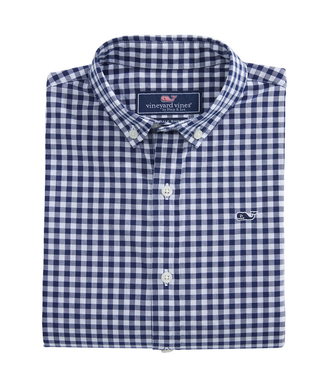Boys Grovedale Gingham Whale Shirt