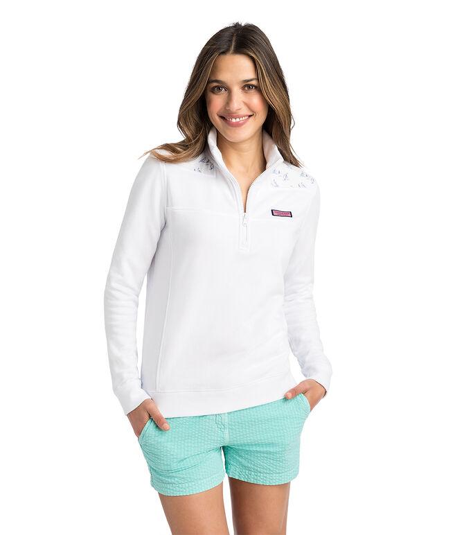 Sailboat Printed Shoulder Classic Shep Shirt