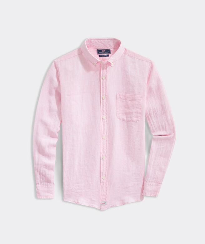 Big & Tall Classic Fit Paradise Linen Murray Button-Down Shirt