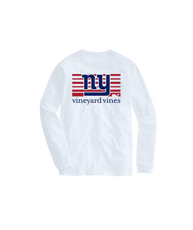 New York Giants Long-Sleeve Block Stripe Tee