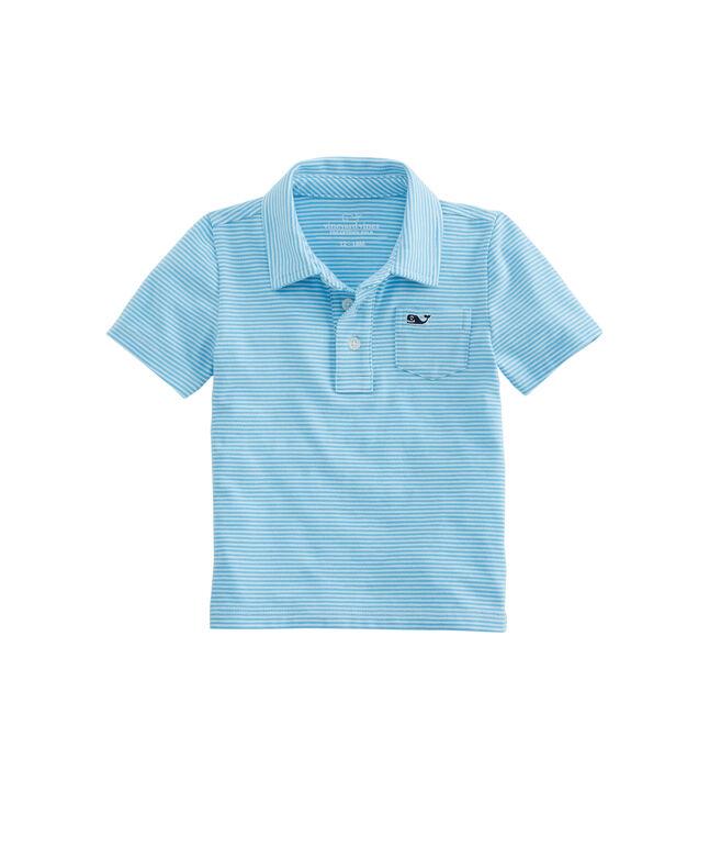 Baby Boy Color To White Stripe Edgartown Polo (12-24)