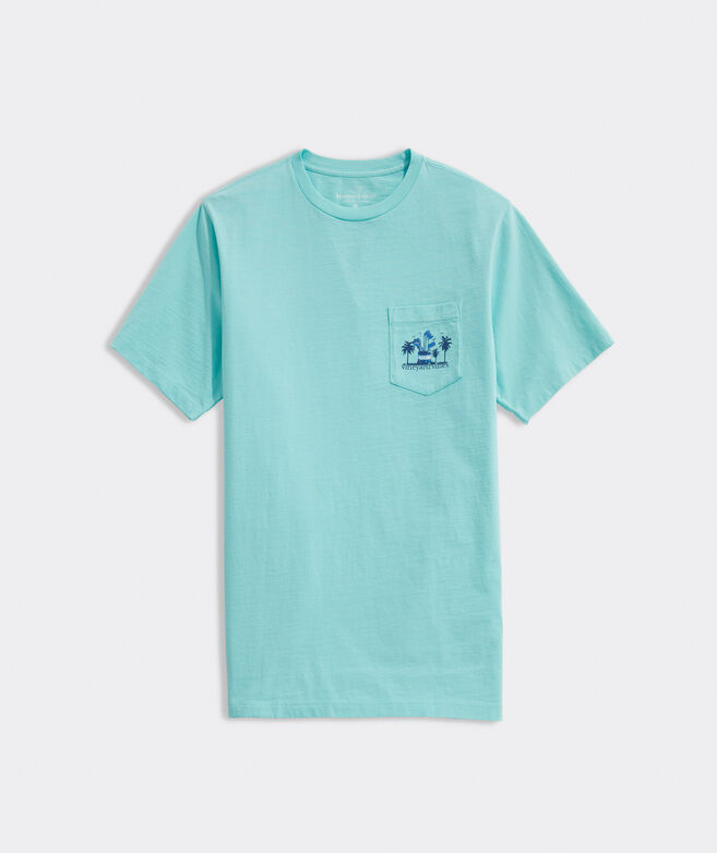Sunset Golf Short-Sleeve Pocket Tee