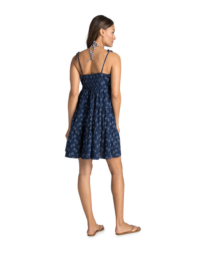 Sailboat Printed Tiered Cover-Up