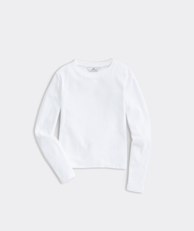 Girls' Long-Sleeve Simple Tee