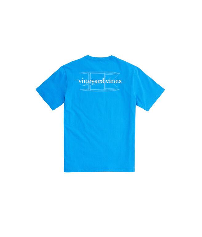 Catamaran Blueprint Pocket T-Shirt