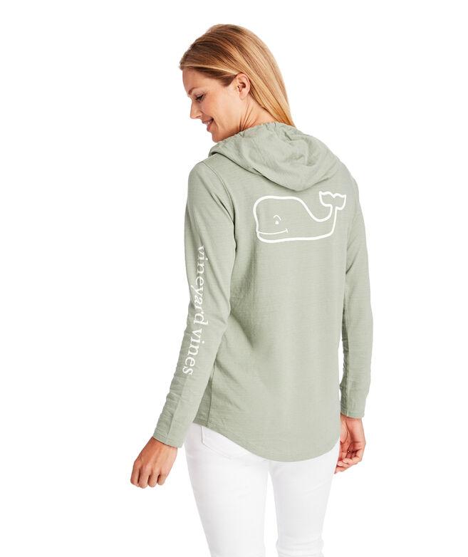 Long-Sleeve Slub Whale Hoodie