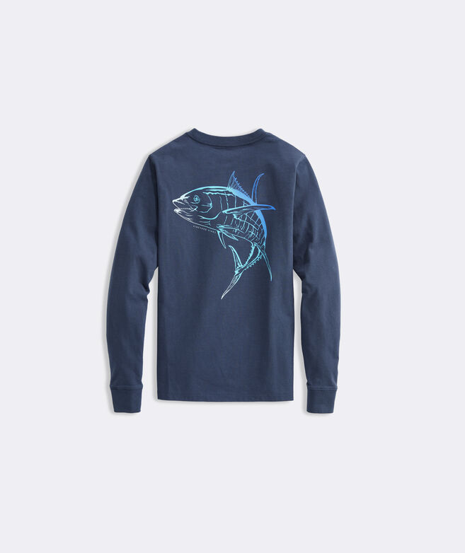 Boys' Ombre Tuna Long-Sleeve Pocket Tee