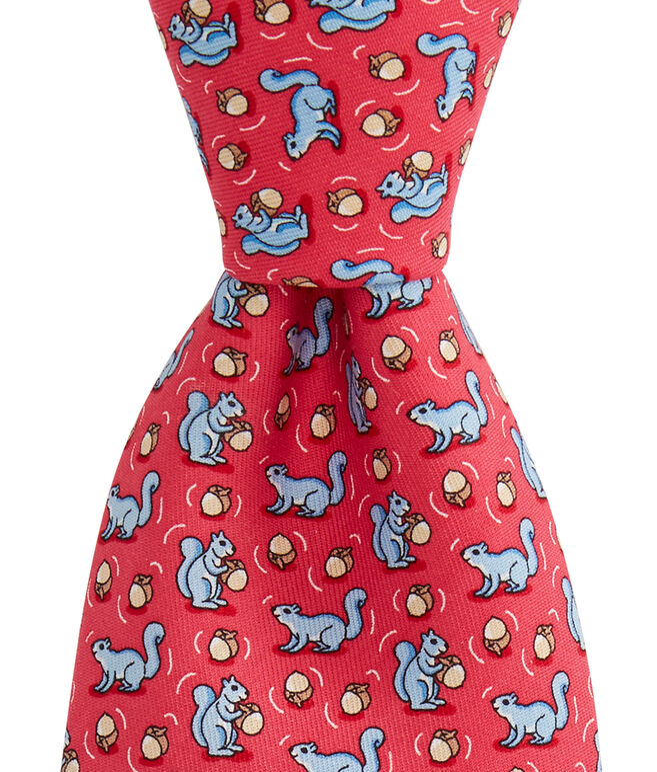 Squirrel & Acorn Tie