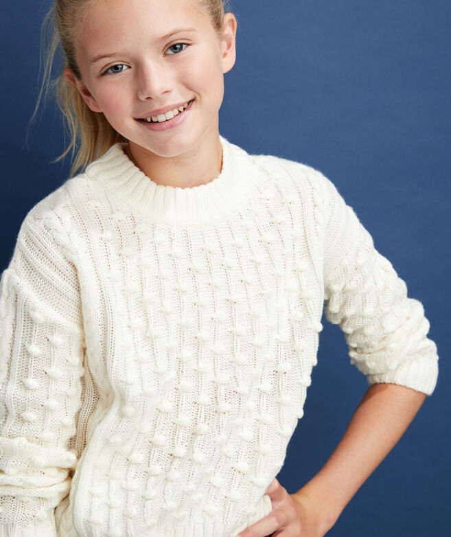Girls Bobble Sweater