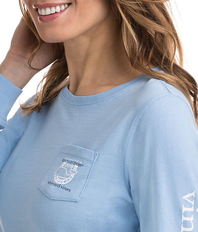 Long-Sleeve Kentucky Derby Logo Pocket Tee