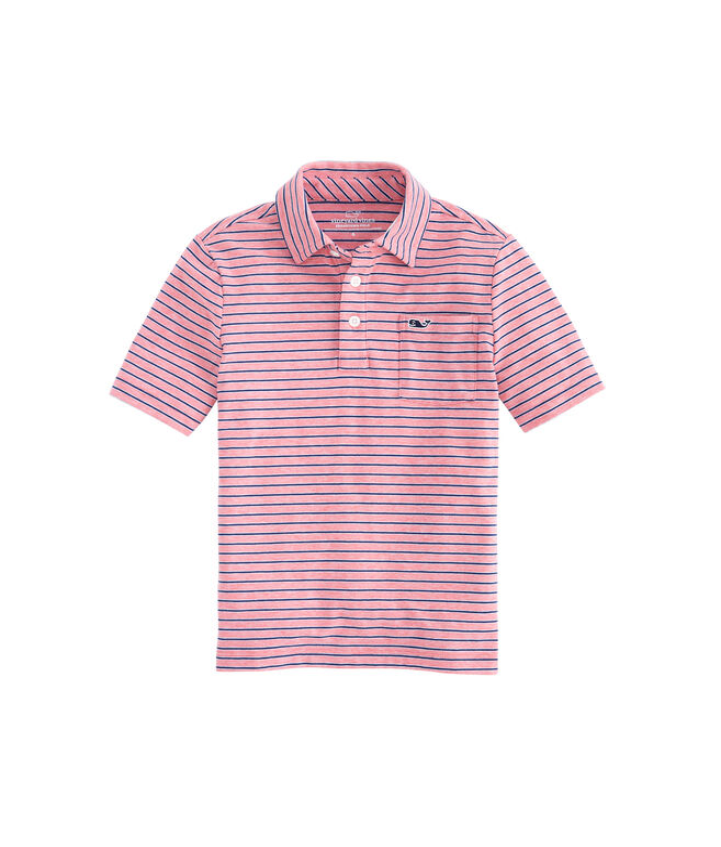 Boys Tri-Color Stripe Edgartown Polo