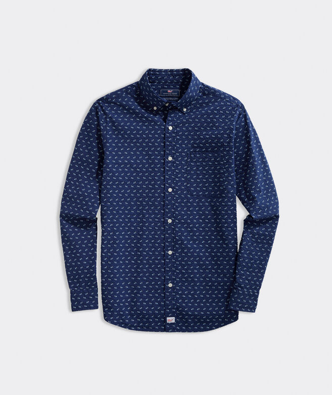 Classic Fit Shark Fins Seersucker Murray Button-Down Shirt