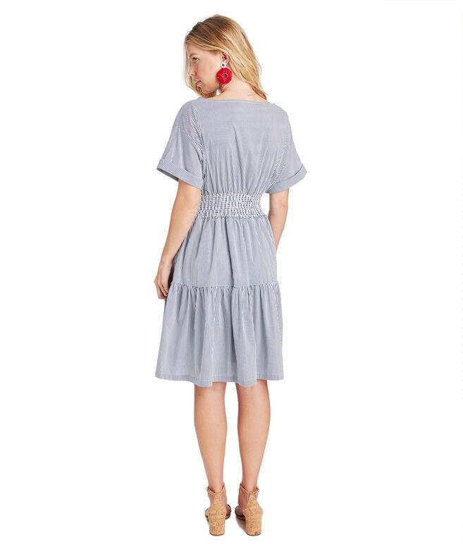 Smocked Waist Shirt Dress