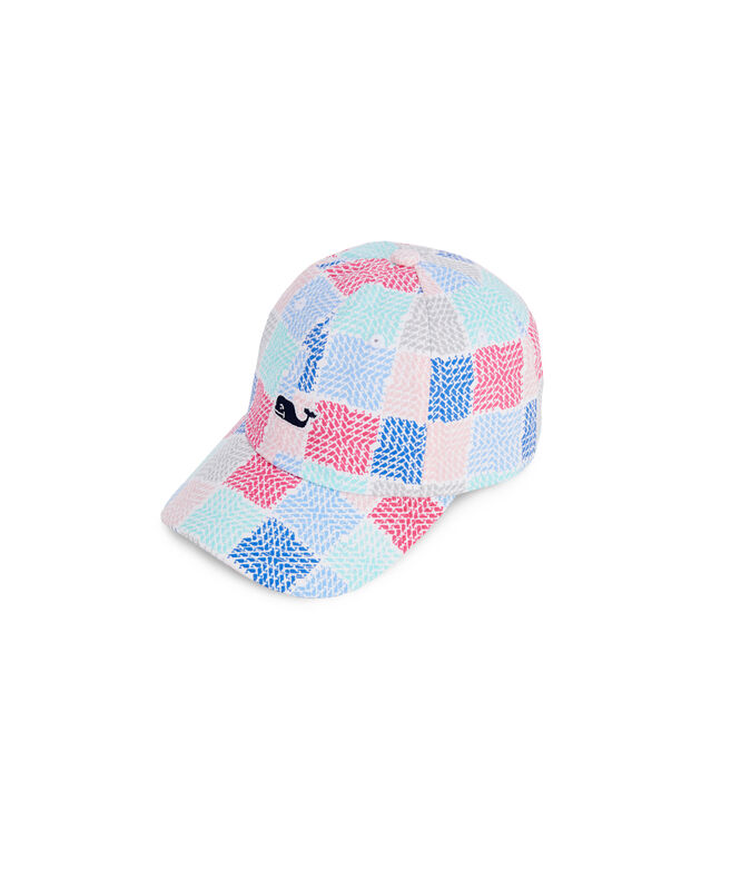 Little Girls Whale Patchwork Logo Hat