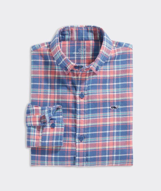 Boys' Lyle Flannel Whale Shirt