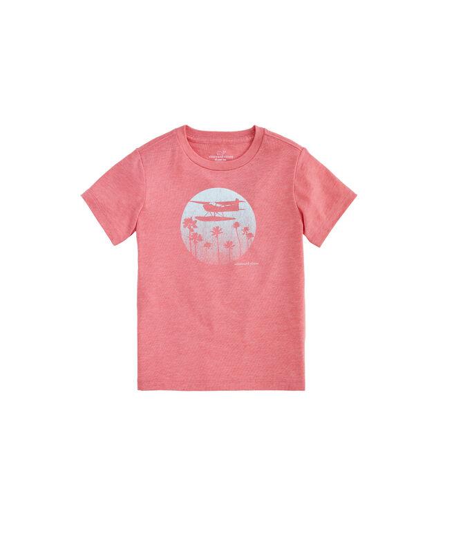 Boys Plane & Palm Island T-Shirt