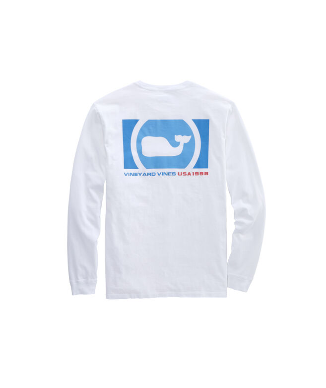 Blocked Whale Dot Long-Sleeve Pocket Tee