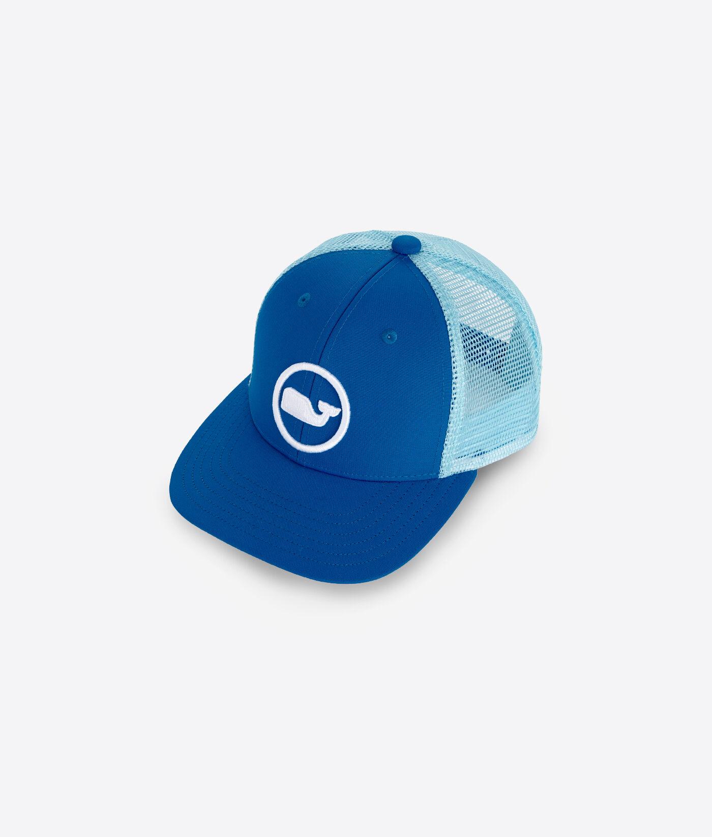 Vineyard Vines Mens Whale Dot Trucker Hat Adjustable Snapback Mesh A