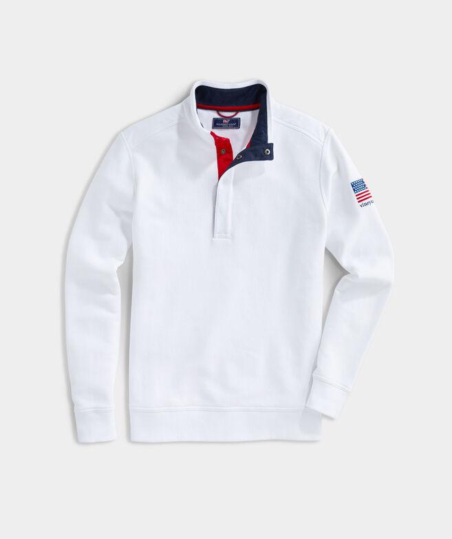 USA Snap Mockneck Pullover