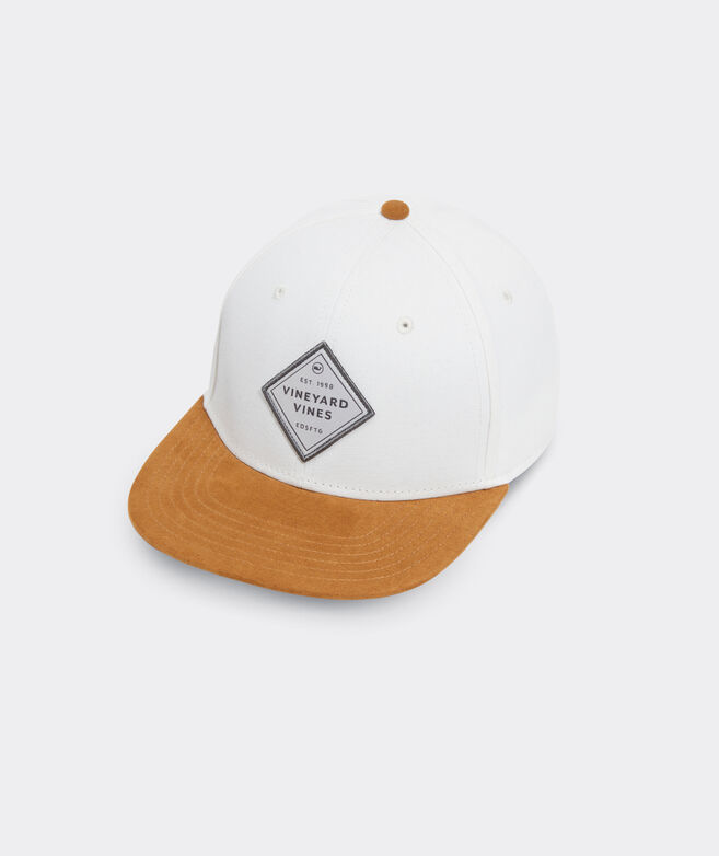 Suede Brim Logo Patch Baseball Hat