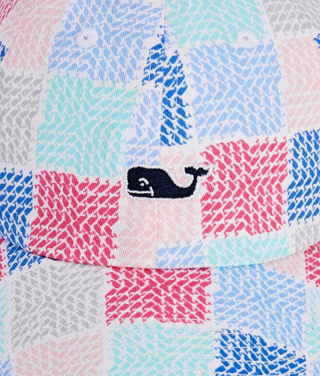Little Girls Whale Patchwork Logo Hat