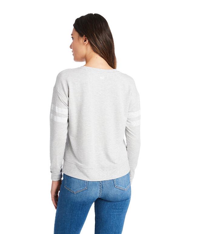 Varsity Stripe Crewneck Sweatshirt