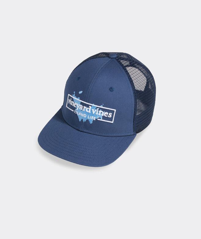 Island Life Logo Box Trucker Hat